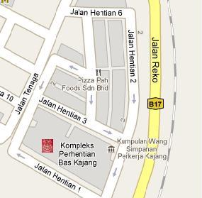 Kajang Immigration Office Location Map