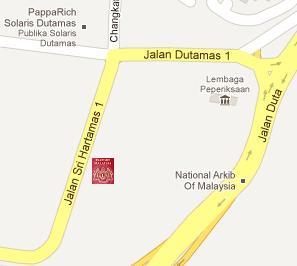 Kompleks KDN Jalan Duta Immigration Office Location Map