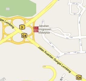 Kuantan Immigration Office Location Map