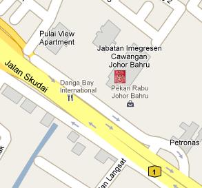 Pekan Rabu Immigration Office Location Map